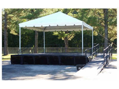 20 X 20 Tent On 24 X 24 Stage With Ada Ramp Small Pic