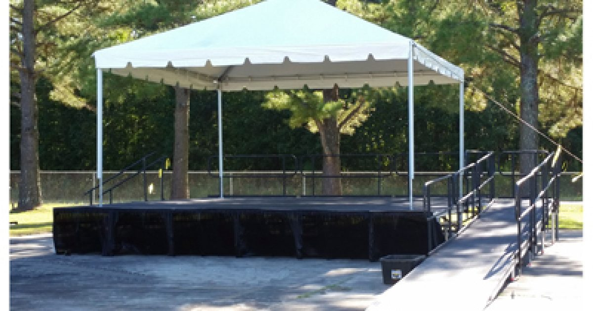 & ACS Sound and Lighting | Tent 20u0027 x 20u0027 Double Tube Frame Covering Stage