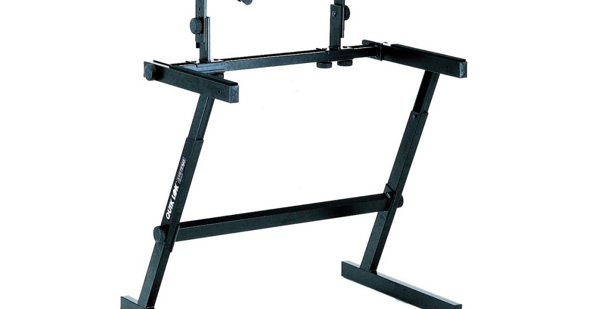 Acs Sound And Lighting Quik Lok 2 Tier Keyboard Stand