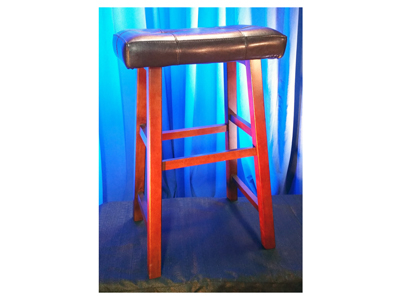 Stool Wooden With Pad Backless